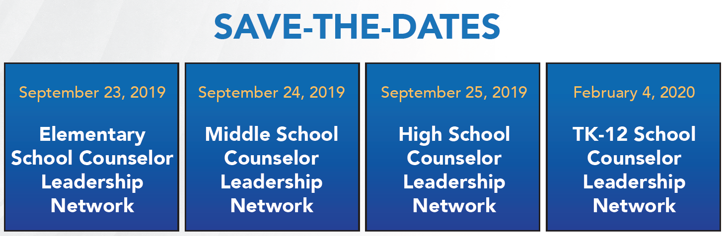 School Counselor Leadership Network | RCEC - Riverside County